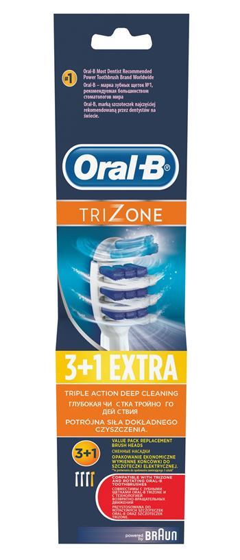 Braun Oral-B EB 30-4 TriZone (3+1) - náhradní kartáček; EB 30-4
