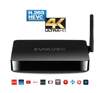 EVOLVEO Android Box Q5 4K, Quad Core Smart TV box s podporou 4K videa