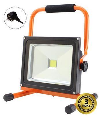 Solight LED venkovní reflektor se stojanem, 50W, 3500lm, kabel se zástrčkou, AC 230V