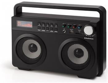 TOPCOM AudioSonic RD-1557 Soundblaster, 2 x 15 Watt BT reproduktory, FM rádio, USB, SD slot, černé; RD-1557