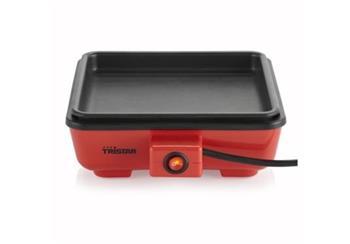 Tristar BP-2631 Stolní kompaktní grill 20x20cm, červený; BP-2631