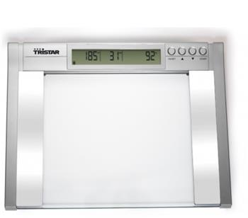 Tristar WG-2422 Osobní váha, max. nosnost 200 kg, rozlišení po 100g, možnost analýzy váhy, svalů a tuku v těle; WG-2422