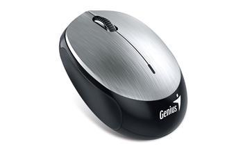 Genius NX-9000BT myš, bluetooth 4.0, 1200dpi, USB, stříbrná, dobíjecí baterie