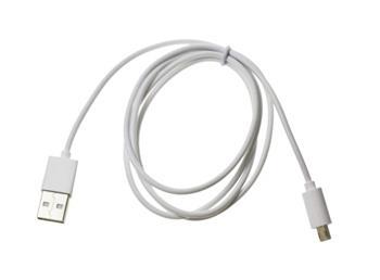 Datový kabel DOUBLESIDE microUSB nabíjecí, bílý
