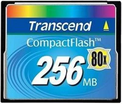 Transcend 256MB CF Card 80X High speed compact flash memory card; TS256MCF80