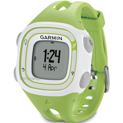 Garmin Forerunner 10 Green and White (vel. S); 010-01039-04