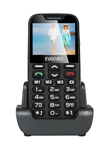 EVOLVEO EasyPhone XD, mobilní telefon pro seniory s nabíjecím stojánkem; EP-600-XDB