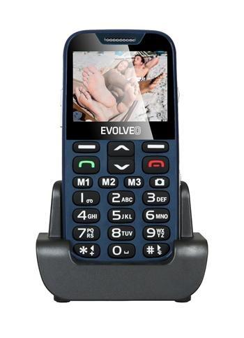 EVOLVEO EasyPhone XD, mobilní telefon pro seniory s nabíjecím stojánkem, modrý
