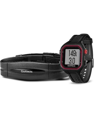 Garmin Forerunner 25 HR Black/Red (vel. XL); 010-01353-50