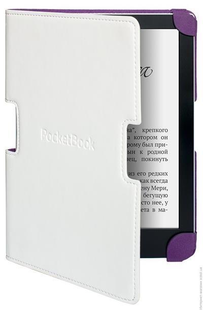 Pocketbook pouzdro pro 630, bílo-fialové; PBPUC-630-WE