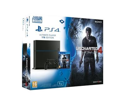 Sony PS4 Playstation 4 1TB + Uncharted 4: Thiefs End - herní konzole; PS719802655