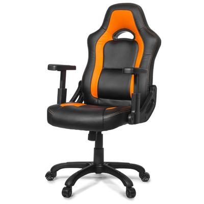 AROZZI herní židle MUGELLO, černooranžová; NBTARO0014