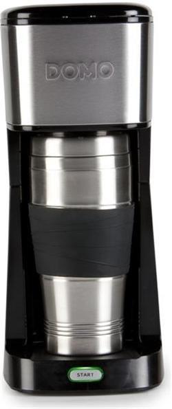 DOMO MyCoffee osobní kávovar s termohrnečkem 400 ml, černý