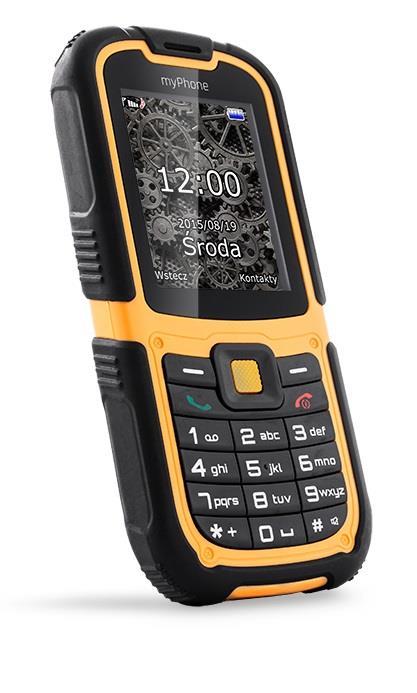myPhone HAMMER 2 ORANŽOVO-ČERNÝ; TELMYHHA2OR