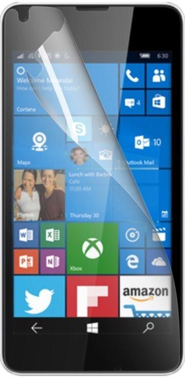 Prémiová ochranná fólie displeje CELLY pro Microsoft Lumia 550, lesklá, 2ks