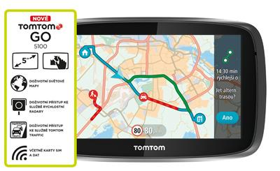 TomTom GO 5100 World, LIFETIME mapy; 1FL5.002.57