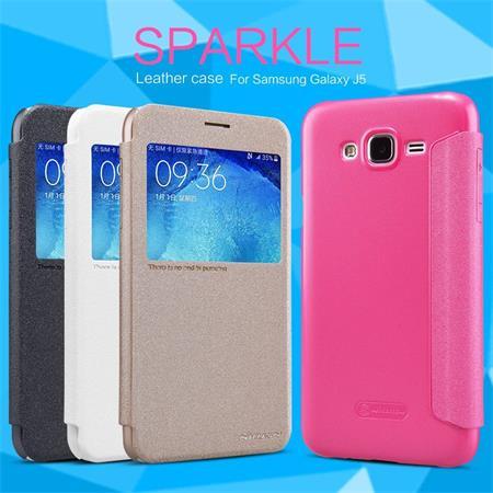 Nillkin Sparkle S-View Pouzdro Gold pro Samsung J500 Galaxy J5