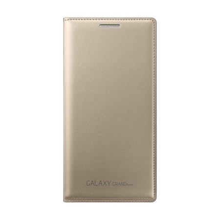 Samsung flipové pouzdro s kapsou EF-WG530B pro Samsung Galaxy Grand Prime (SM-G530), zlatá; EF-WG530BFEGWW