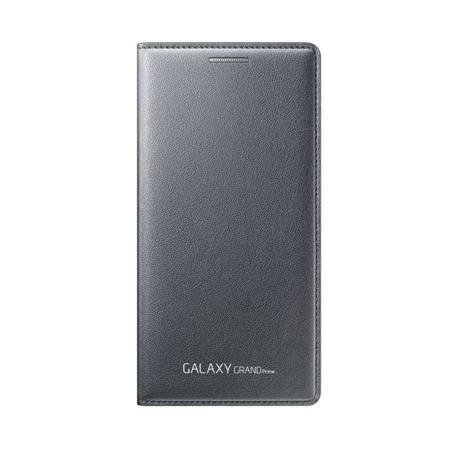 Samsung flipové pouzdro s kapsou EF-WG530B pro Samsung Galaxy Grand Prime (SM-G530), šedá; EF-WG530BSEGWW