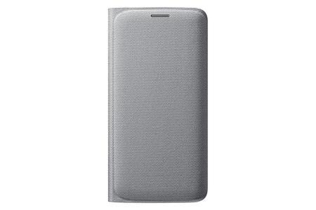 Samsung flipové pouzdro s kapsou EF-WG925B pro Samsung Galaxy S6 Edge (SM-G925F), stříbrná