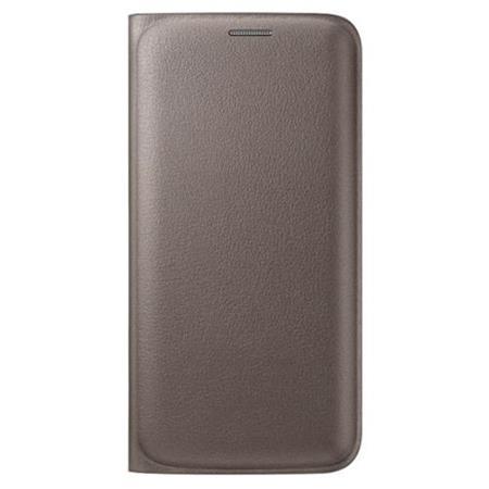 Samsung flipové pouzdro s kapsou EF-WG925P pro Samsung Galaxy S6 Edge (SM-G925F), zlatá; EF-WG925PFEGWW