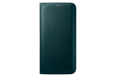 Samsung flipové pouzdro s kapsou EF-WG925P pro Samsung Galaxy S6 Edge (SM-G925F), zelená; EF-WG925PGEGWW