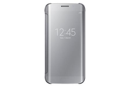Samsung flipové pouzdro Clear View EF-ZG925B pro Samsung Galaxy S6 Edge (SM-G925F), stříbrná; EF-ZG925BSEGWW