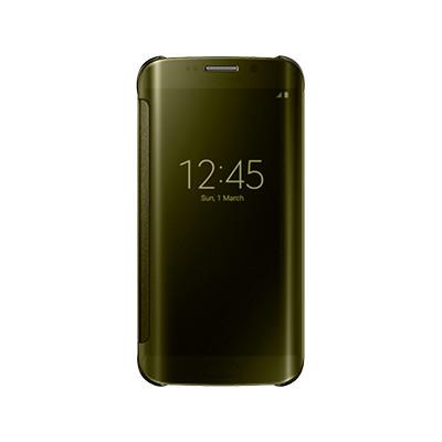Samsung flipové pouzdro Clear View EF-ZG925B pro Samsung Galaxy S6 Edge (SM-G925F), zlatá; EF-ZG925BFEGWW