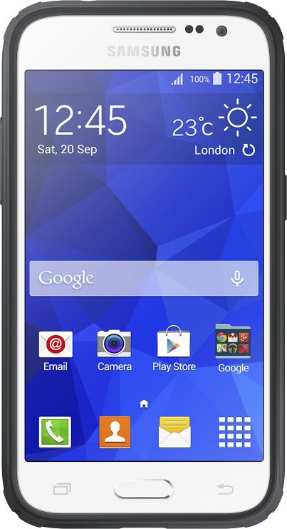 Samsung ochranný kryt EF-PG360B pro Samsung Galaxy Core Prime (SM-G360), stříbrná; EF-PG360BSEGWW