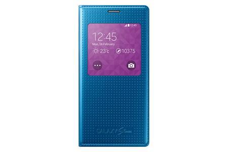 Samsung flip. pouzdro S-view pro S5 mini Blue PP; EF-CG800BEEGWW