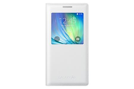 Samsung flip. pouzdro S-view pro G. A5, bílá; EF-CA500BWEGWW