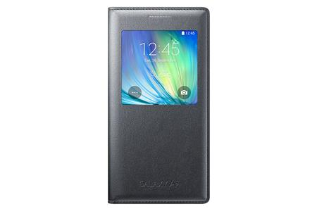 Samsung flip. pouzdro S-view pro G. A5, černá; EF-CA500BCEGWW