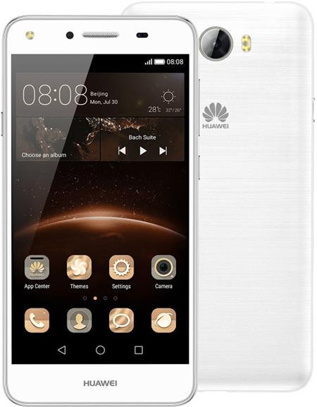 "HUAWEI Y5 II Dual SIM White 8GB - 5"" 1280x720, QC 1,3 Ghz, 1GB RAM, 2200mAh, 4G LTE, bílý"