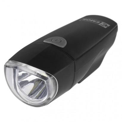Svítilna na kolo 1x 1W LED, na 3x AAA, přední