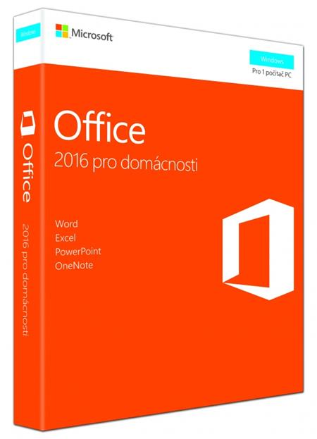 Microsoft Office 2016 pro domácnosti (CZ); 79G-04723