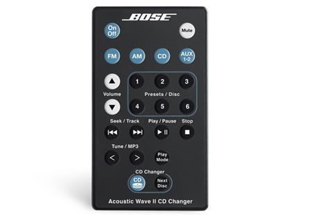 Bose Acousti Wave Music System remote control černá