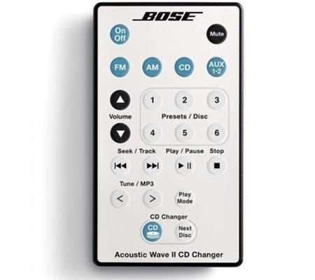 Bose Acoustic Wave Music System remote control bílá