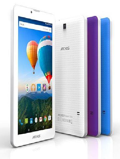 """ARCHOS 70 Xenon, Tablet 7"""" 1024x600 IPS, 1.3GHz QC, 1GB/8GB, Android 5.1, MicSD, USB, 3G,BT,GPS,WiFi, bílá/modrá/fialová; 503179"""