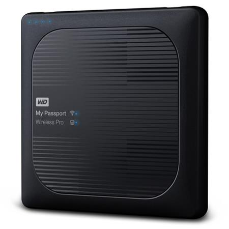 WD My Passport Wireless PRO 2TB, Black; WDBP2P0020BBK-EESN