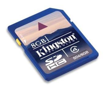 Kingston 8GB Class 4 SecureDigital HC (SDHC); SD4/8GB