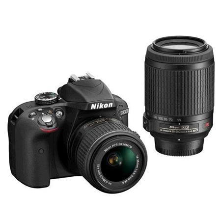 Nikon D3300 - zrcadlovka + 18-55 AF-P VR II + 55-200 AF-S VR II; VBA390K009