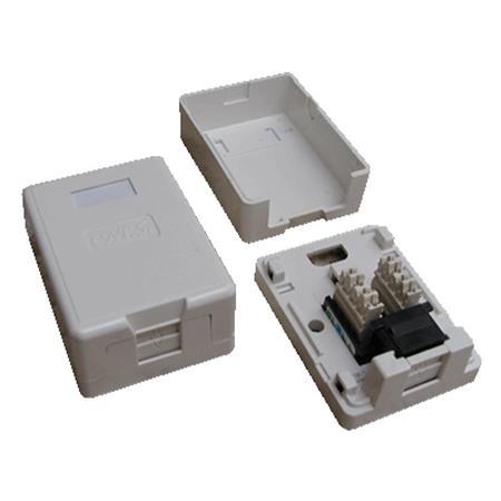 DATACOM Datová zásuvka UTP CAT6 1xRJ45 na omítku bílá; 2335