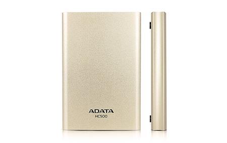 """ADATA HC500 2TB External 2.5"""" HDD Gold"""