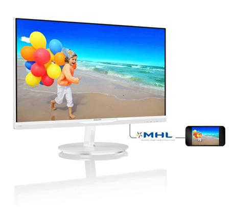 """Philips LCD 234E5QHAW 23"""" wide / 1920x1080 / 5ms / 20mil:1 / 2xHDMI / MHL / LED / IPS / repro, bílý"""