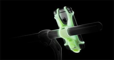 "BONE držák na kolo pro mobil 4-6"", Bike Tie-Luminous(Green)"