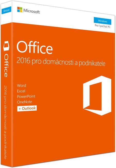 Microsoft Office 2016 pro domácnosti a podnikatele (CZ)