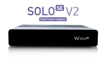 Vu+ SOLO SE V2 černý (Single tuner S2); VUSEB1