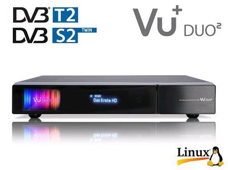 Vu+ DUO 2 - 1x DVB-S2 TWIN + 1xDVB-T/T2/C tuner; DUO2+S2TW+T2