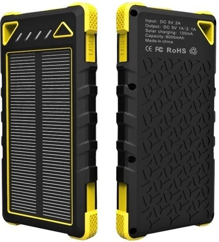 VIKING SPT-80 solární power bank 8000 mAh; SPT-80 YELLOW