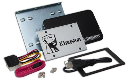 "Kingston 960GB SSDNow UV400 SATA 3 - pevný disk, interní, 960GB, 2.5"", SATA3, SSD, upgrade bundle kit, stříbrný"